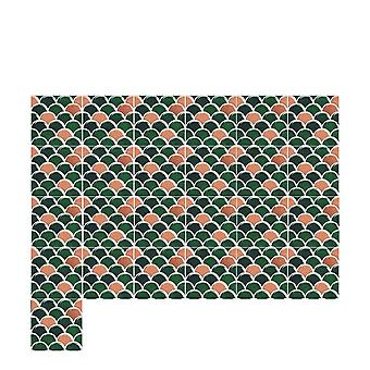 25pcs Kitchen Tile Stickers Bathroom 3d Mosaic Sticker Self-adhesive Wall Decals