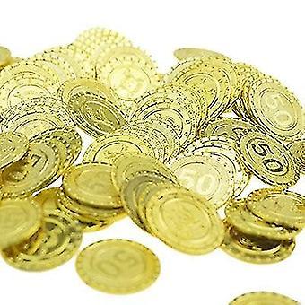 מטבע משחק אוצר מטבע זהב פלסטיק