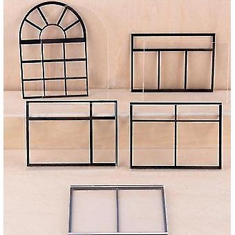 Szkło akrylowe i siatki do miniaturowego okna domu dla lalek