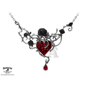 Alchemy Gothic Bed Of Blood-Roses Necklace