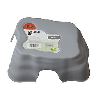 """Zilla Durable Den for Reptiles - Gray - Large - (10.6""""L x 8.8""""W x 4.25""""H)"""