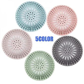 Kitchen And Bathroom Hair Catching Filter With Suction Cup 5 Pieces