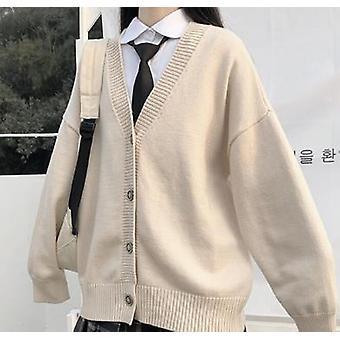 Pull Femme Vêtement Extérieur Jk Pull Manteau Japonais Uniforme Scolaire