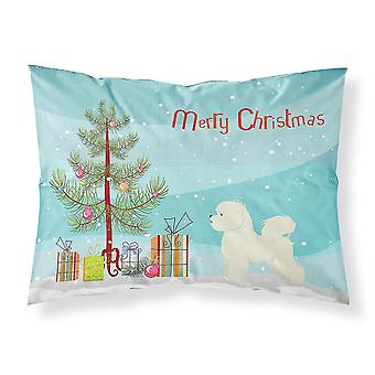 Pillowcases shams carolines treasures ck3521pillowcase bichon frise christmas tree fabric standar