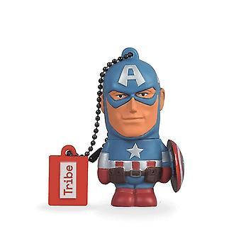 Disney Marvel Avengers Captain America USB Stick 16GB Pen Drive USB Memory Stick Flash Drive, Gift