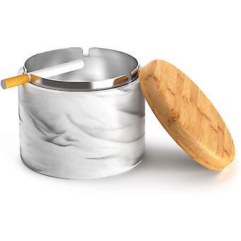Keramik Aschenbecher mit Deckel Winddicht Home oder Outdoor Aschenbecher für Zigaretten (schwarz)