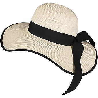 Naisten aurinko olkihattu leveä brim upf 50 kesä taitettava roll up floppy rantahattu