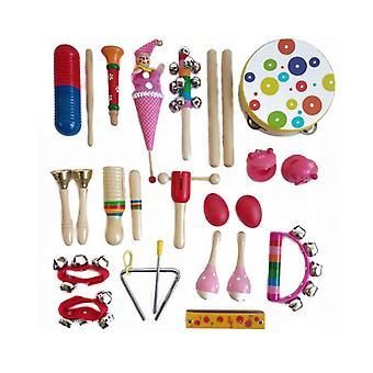 Peuter muziekinstrumenten, houten percussie instrumenten educatieve peuterspeelzaal speelgoed voor kinderen baby