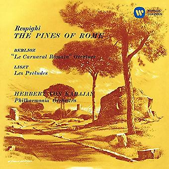 Herbert Von Karajan - Respighi: Dennen van Rome Berlioz: Le Carnaval Romain Ouverture Liszt: Les Preludes [SACD] USA import