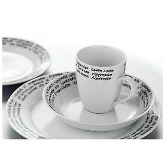 16PC italiano carattere cena Set porcellana