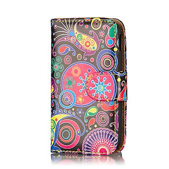 Design Book Leather Case Cover For Samsung Galaxy S4 Zoom C1010 - Jellyfish