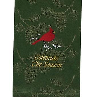 Celebrate the Season Cardinal Green Pine Holiday Kitchen Dish Towel Park Designs