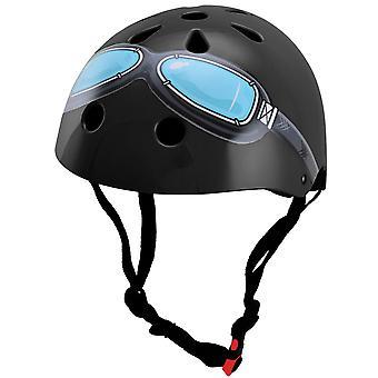Kiddimoto capacete - óculos pretos