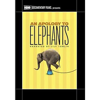 Apology to Elephants [DVD] USA import