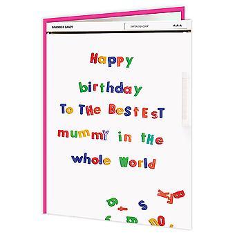 عيد ميلاد سعيد حلوى Brainbox المومياء ثلاجة بطاقة