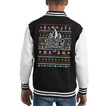 12 jeux de Noël en tricot Varsity Jacket enfant