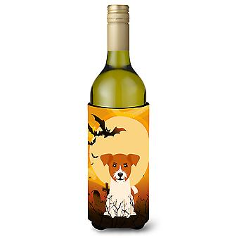Halloween Jack Russell Terrier Wine Bottle Beverge Insulator Hugger