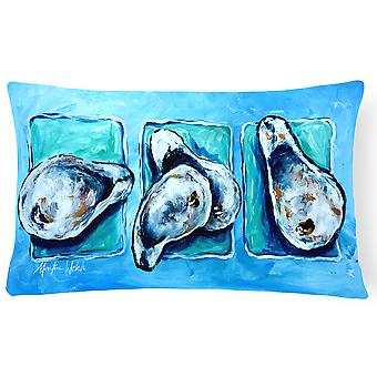 Oysters Oyster + Oyster = Oysters   Canvas Fabric Decorative Pillow