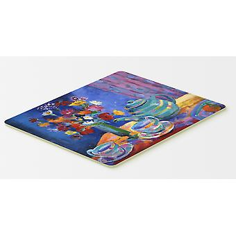 Blue Tea by Wendy Hoile Kitchen or Bath Mat 20x30