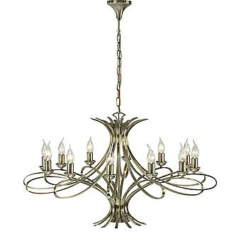 Interiors 1900 Penn 12 Light Fitting In Brushed Brass Finish