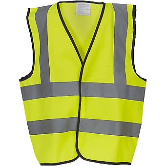 Yoko Childrens High Vis 2 B&B Waistcoat
