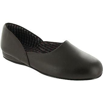Mirak Mens Jayson Slip-on cuero textil interior zapatillas zapato marrón