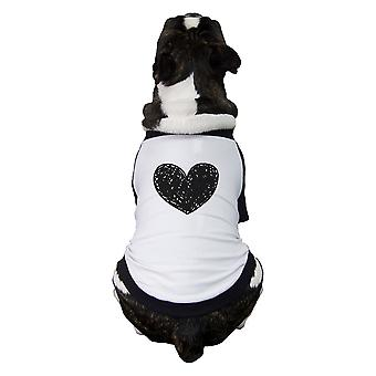 Love Heart Pet Baseball Shirt For Small Pet Family Matching Outfits