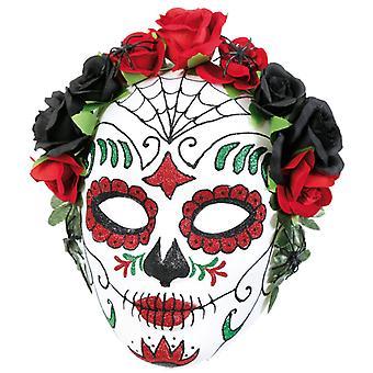 Flor máscara mexicano morto dia semi-máscara dia dos mortos de Muertos