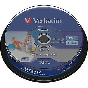 Verbatim 43804 prázdné Blu-ray BD-R 25 GB 10 PC (s) vřeteno