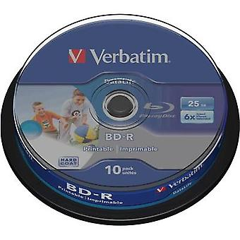 Verbatim 43804 Blu-ray en blanco BD-R 25 GB 10 pc(s) husillo imprimible