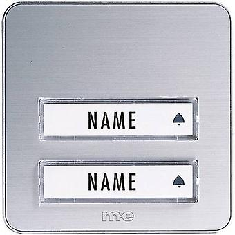 m-e modern-electronics KTA-2 A/S Bell panel incl. nameplate 2x Silver 12 V/1 A