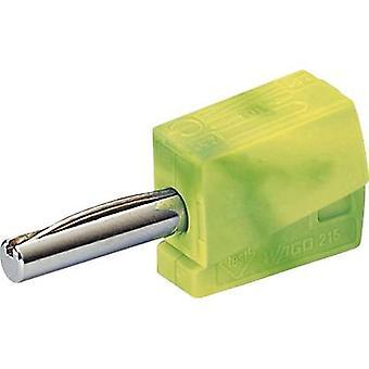 WAGO Jack plug plug, rechte pin diameter: 4 mm Groen, Geel 1 pc(s)