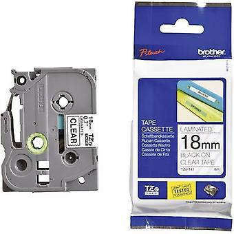 Labelling tape Brother TZe, TZ TZe-141 Tape colour: Transparent Font colour:Black 18 mm 8 m