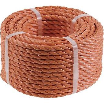 Polypropylene rope (Ø x L) 4 mm x 20 m kwb 9826-42 Orange