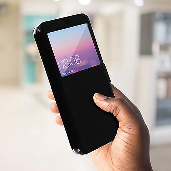 Flip Case mit Fenster für Huawei P20 durch Colorfone - schwarz