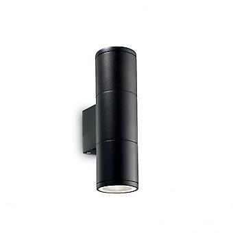 Ideell Lux pistol utendørs Double Twin liten svart opp ned veggen lys