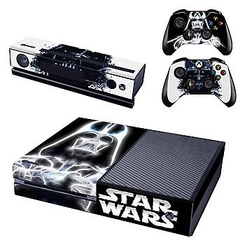 REYTID Console Skin / Sticker + 2 x Controller Decals & Kinect Wrap Compatible with Microsoft Xbox One - Full Set - Darth Vader