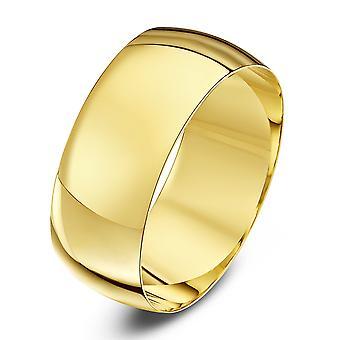 Mariage Star anneaux 9ct jaune lumière or D forme 8mm bague de mariage