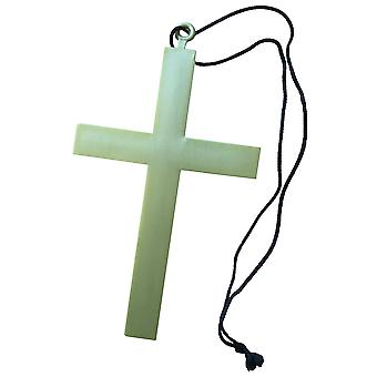 Monk Priest Friar Tuck Medieval Religious Mens Costume Prop Large Cross Necklace