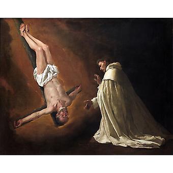 Appearance of Saint Peter to Saint, Francisco de Zurbaran, 50x40cm
