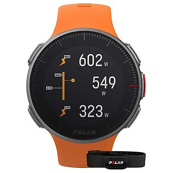 Polar Vantage V (con la cinghia HR) GPS Multisport Orange Watch Strap 90069666