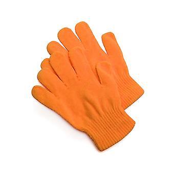 Gants tricotés gants orange