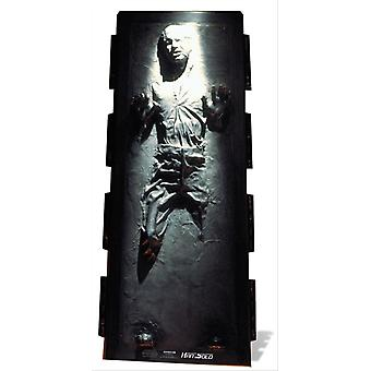 Han Solo in Carbonite Star Wars Lifesize Cardboard Cutout / Standee / Standup