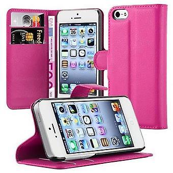 Cadorabo Hülle für Apple iPhone 5 / iPhone 5S / iPhone SE Case Cover - Handyhülle mit Magnetverschluss, Standfunktion und Kartenfach – Case Cover Schutzhülle Etui Tasche Book Klapp Style