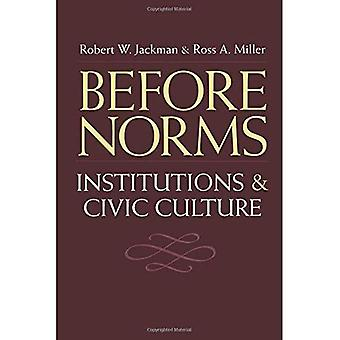 Before Norms: Institutions and Civic Culture