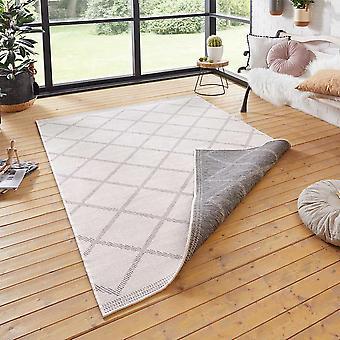Da vuelta la alfombra gris de Córcega crema
