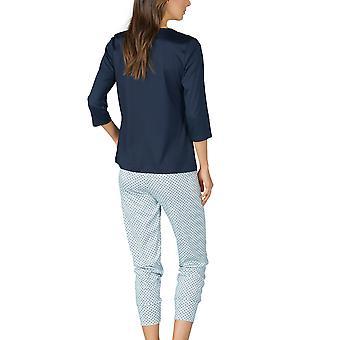 Mey Women 13954-408 Women's Sonja Night Blue Spotted Cotton Pyjama Set