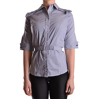Elisabetta Franchi Ezbc050018 Women's Blue Cotton Shirt
