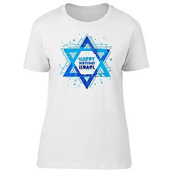 Happy Birthday Israel Star Flag Tee Men's -Image by Shutterstock