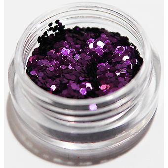 1pcs Hexagon Glitter Purple